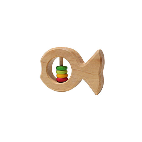 Grimms Rattle Fish Joschi-Teethers- Natural Baby Shower