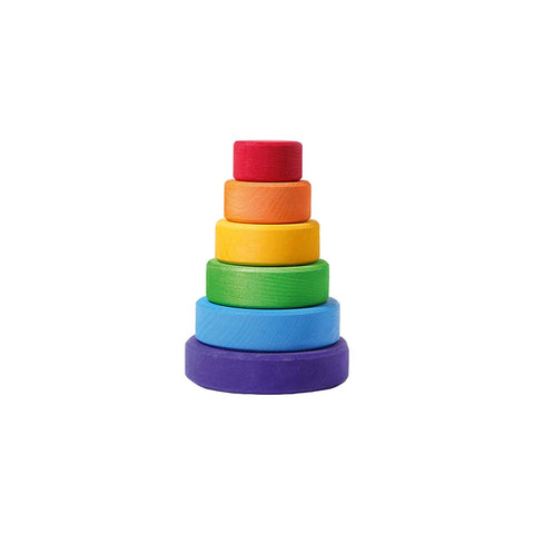 Grimms Small Conical Tower-Sorting & Stacking Toys- Natural Baby Shower