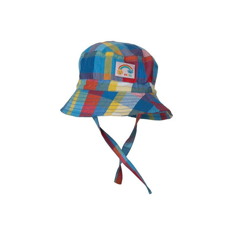 Frugi Little Dexter Hat - Sail Blue Check