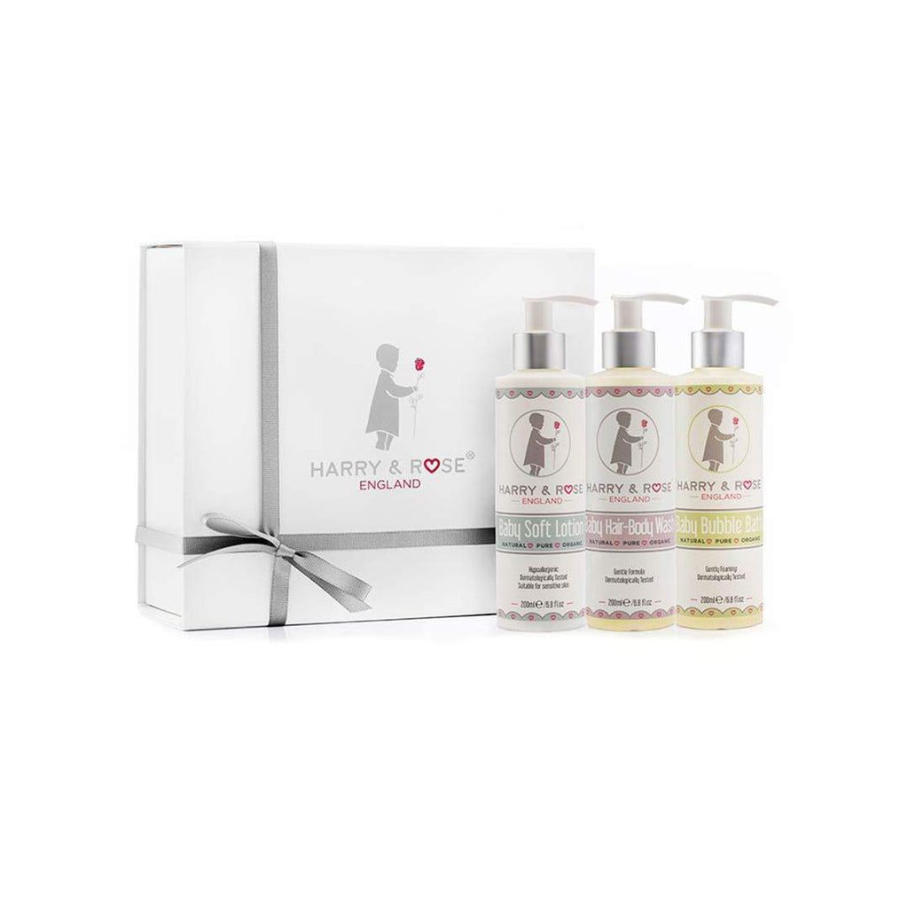 Harry & Rose Baby Skincare Gift Box-Gift Sets- Natural Baby Shower