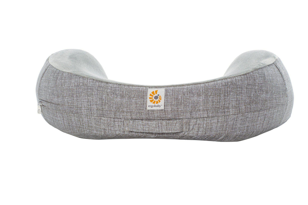 Ergobaby Natural Curve Nursing Pillow - Heathered Grey Front