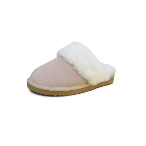 Heitmann Adult Lambskin Slippers - Beige-Slippers- Natural Baby Shower