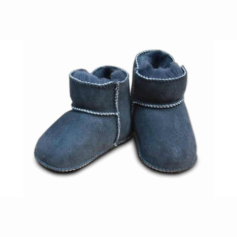 Heitmann Lambskin Booties - Anthracite-Booties- Natural Baby Shower