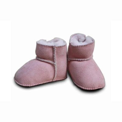 Heitmann Lambskin Booties - Rose-Booties- Natural Baby Shower