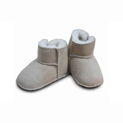 Heitmann Lambskin Booties - Sand-Booties- Natural Baby Shower