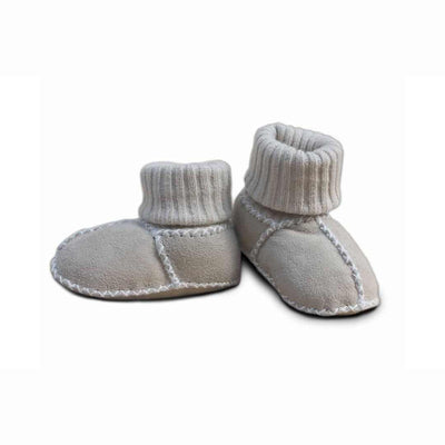 Heitmann Lambskin Sock Booties - Sand-Booties- Natural Baby Shower