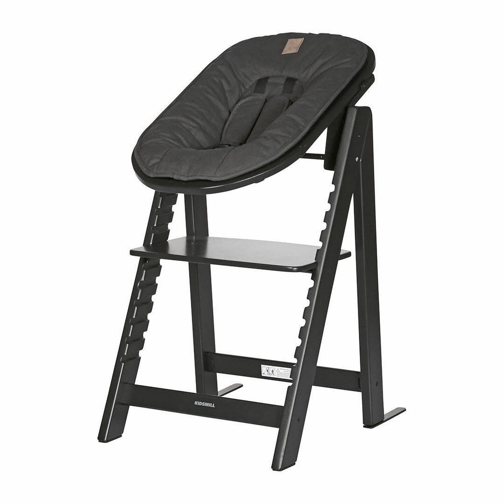 Kidsmill Highchair Up! + Bouncer - Black-High Chairs-Anthracite- Natural Baby Shower