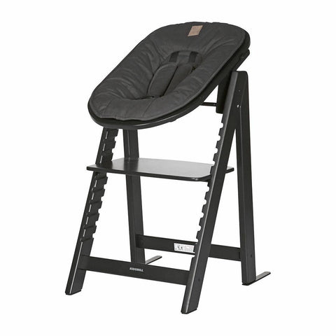 Kidsmill Highchair Up! + Bouncer Bundle - Black + Anthracite