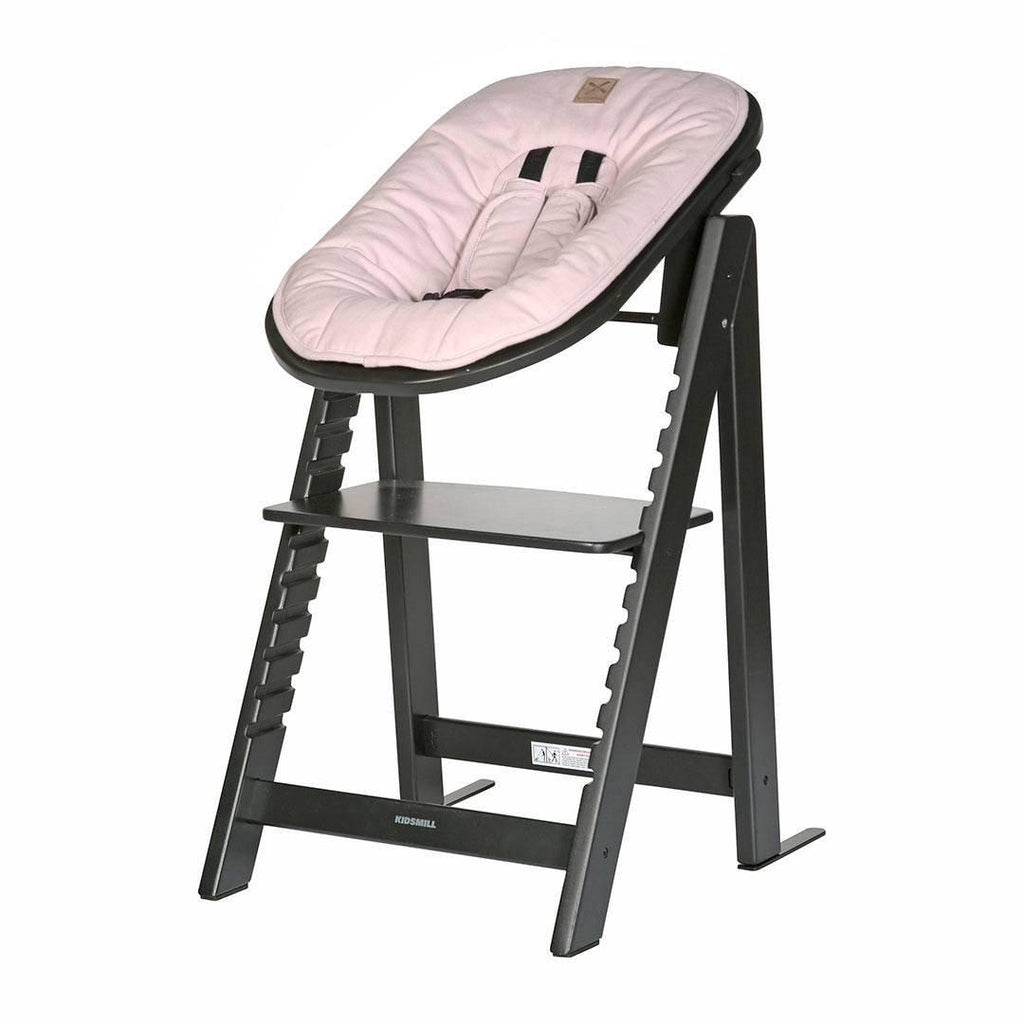 Kidsmill Highchair Up! + Bouncer - Black-High Chairs-Pink- Natural Baby Shower