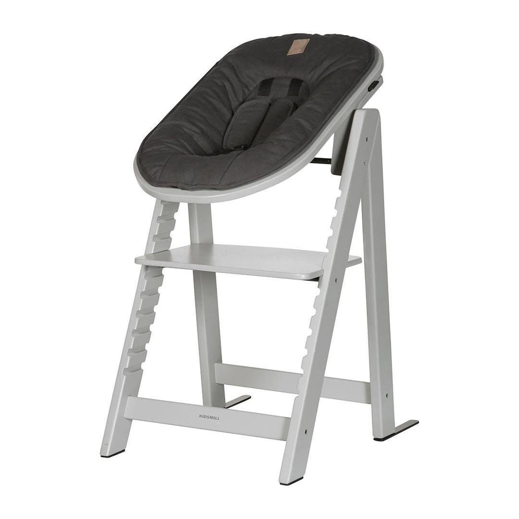 Kidsmill Highchair Up! + Bouncer - Solid Grey-High Chairs-Anthracite- Natural Baby Shower
