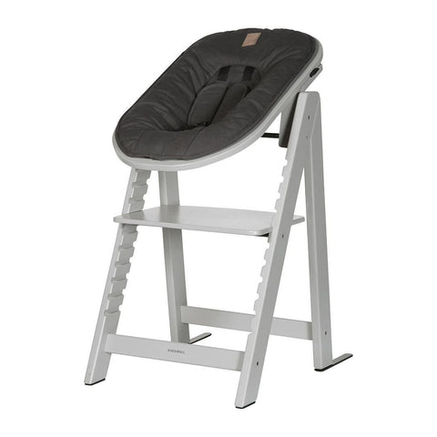 Kidsmill Highchair Up! + Bouncer Bundle - Solid Grey + Anthracite