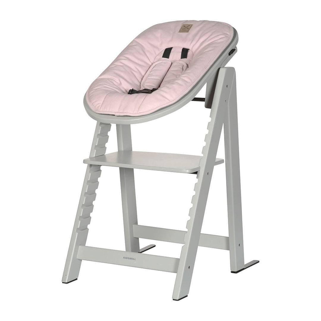 Kidsmill Highchair Up! + Bouncer - Solid Grey-High Chairs-Pink- Natural Baby Shower