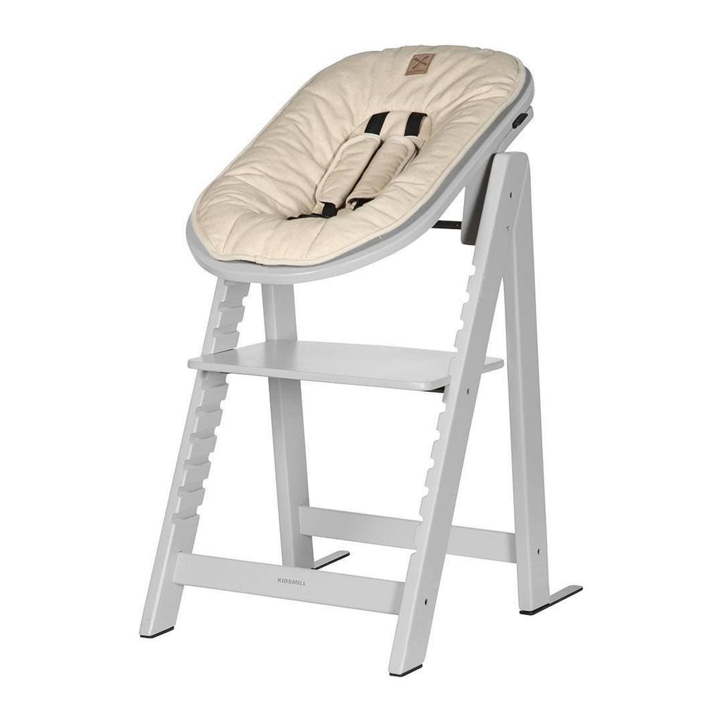 Kidsmill Highchair Up! + Bouncer - Solid Grey-High Chairs-Sand- Natural Baby Shower