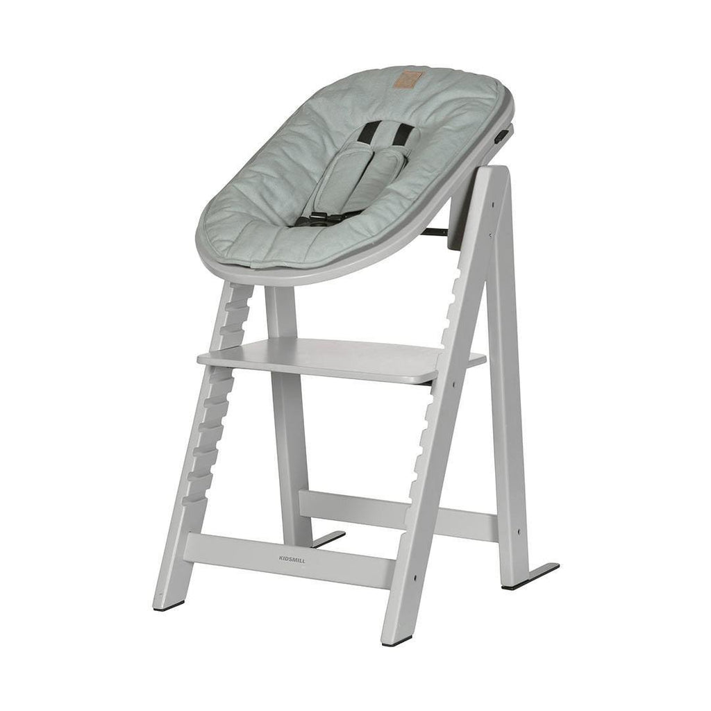 Kidsmill Highchair Up! + Bouncer - Solid Grey-High Chairs-Soft Green- Natural Baby Shower