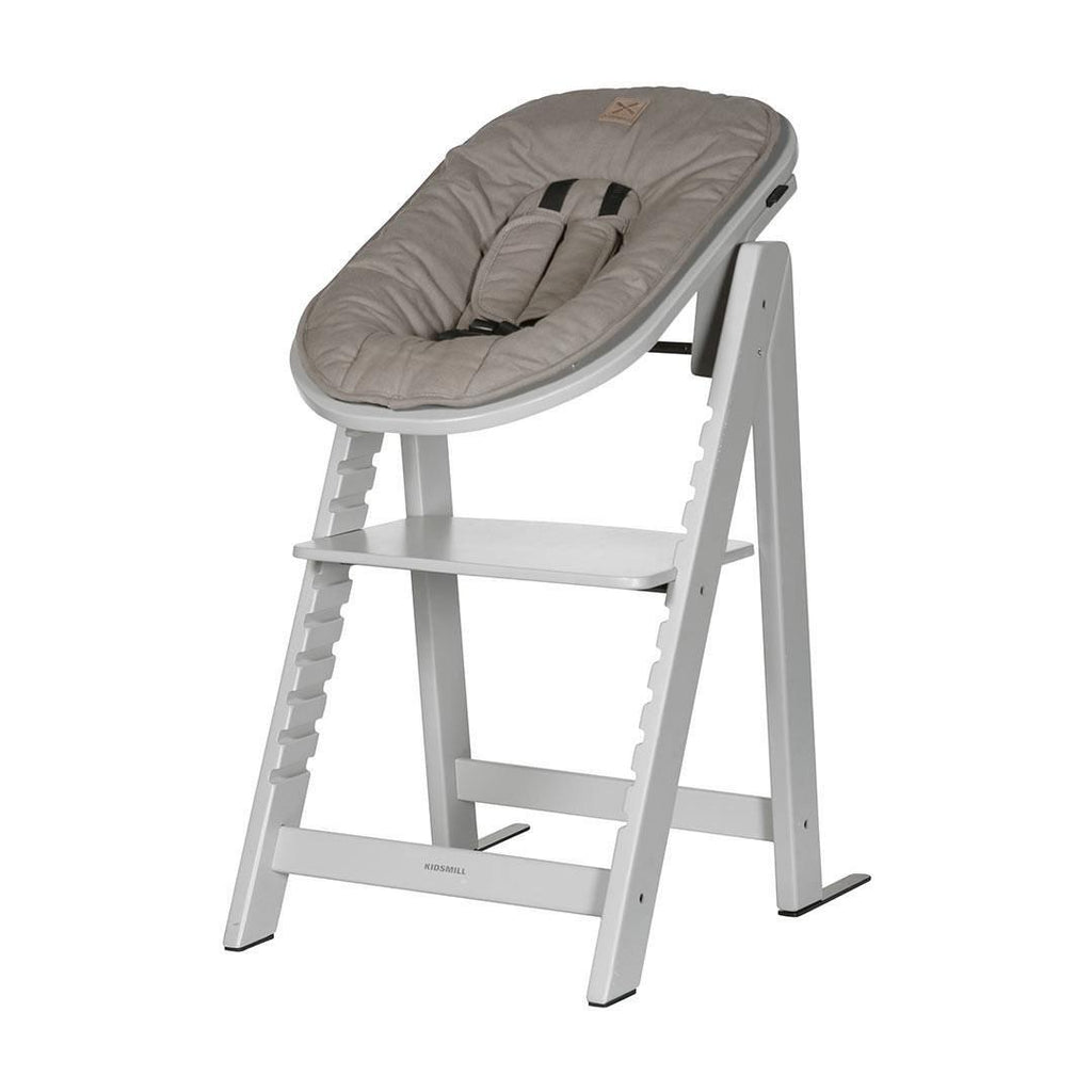 Kidsmill Highchair Up! + Bouncer - Solid Grey-High Chairs-Taupe- Natural Baby Shower