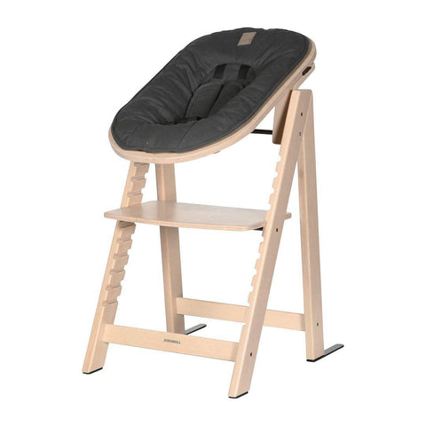 Kidsmill Highchair Up! + Bouncer - Natural-High Chairs-Anthracite- Natural Baby Shower