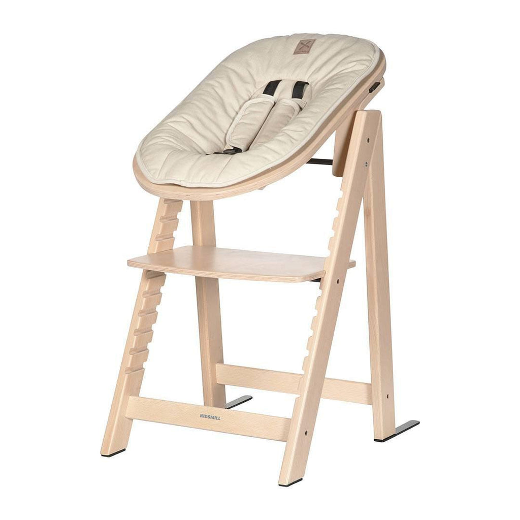Kidsmill Highchair Up! + Bouncer Bundle - Natural + Sand