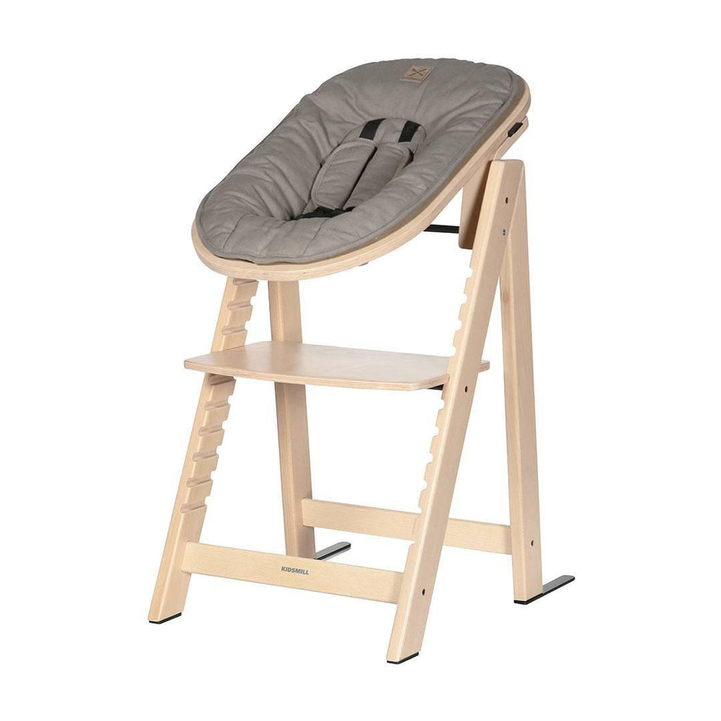 Kidsmill Highchair Up! + Bouncer Bundle - Natural + Taupe