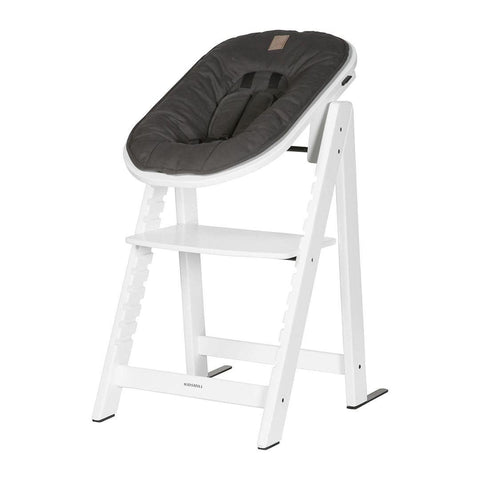 Kidsmill Highchair Up! + Bouncer - White-High Chairs-Anthracite- Natural Baby Shower