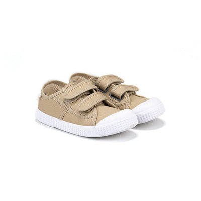 Igor Berri Velcro Shoes - Beige-Shoes- Natural Baby Shower