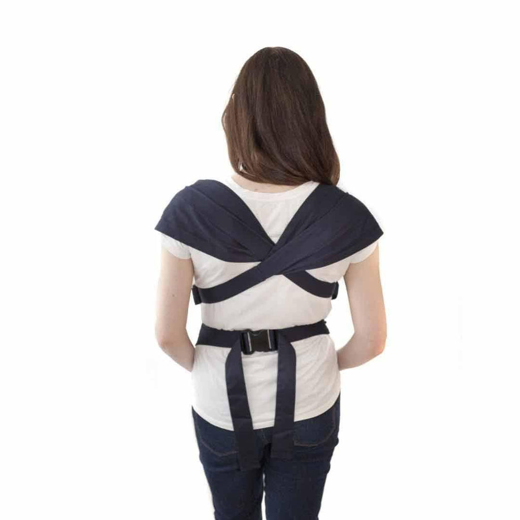 Izmi Baby Cotton Carrier Mid Grey Back