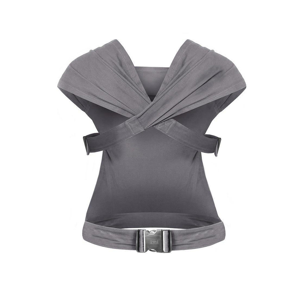 Izmi Baby Cotton Carrier - Mid Grey Back