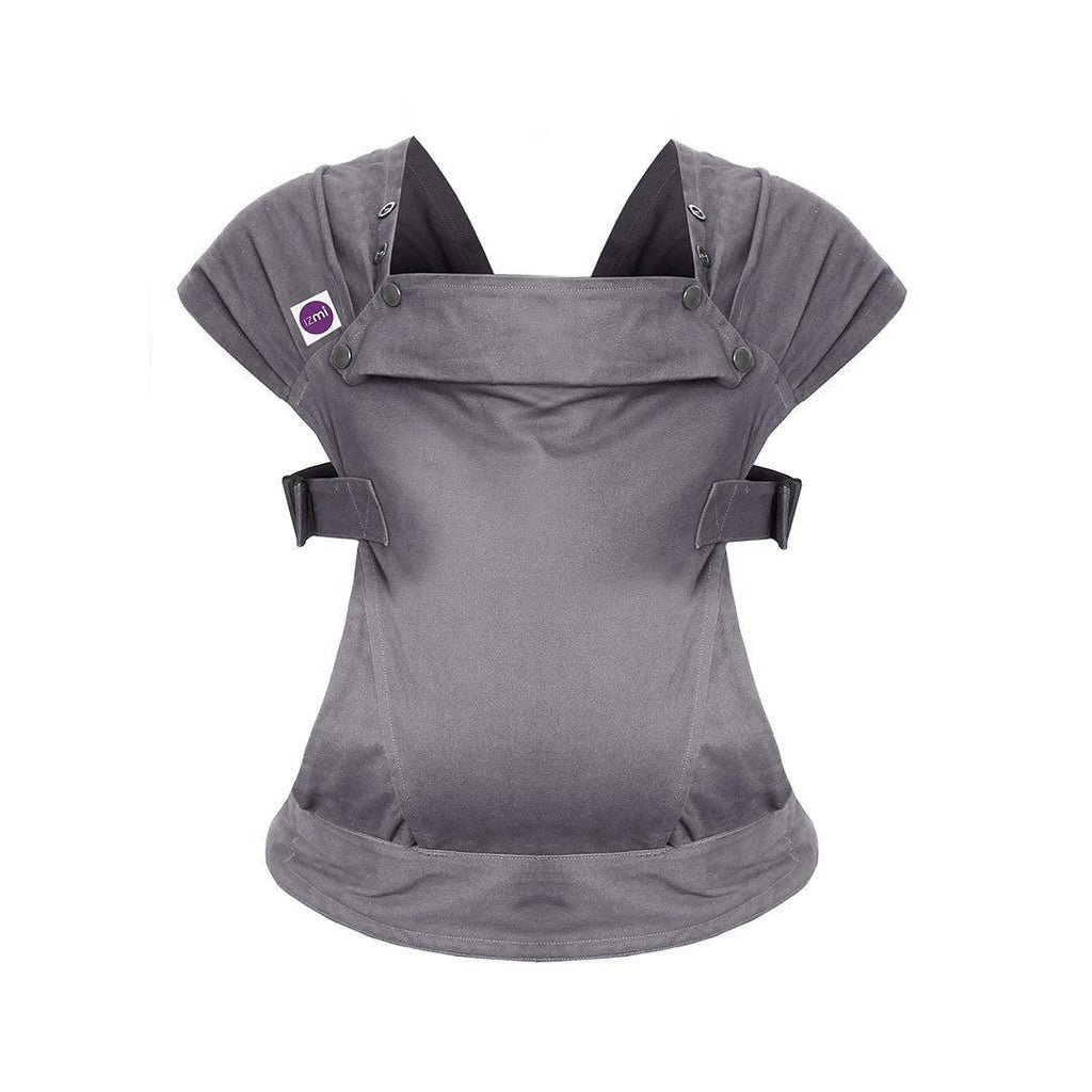 Izmi Baby Cotton Carrier - Mid Grey Front