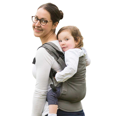 Izmi Toddler Cotton Carrier - Grey-Baby Carriers- Natural Baby Shower