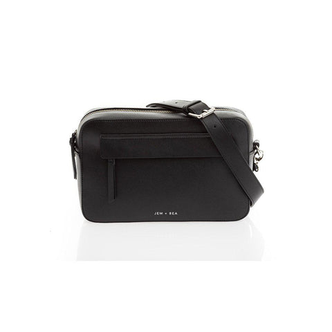 JEM + BEA Cara Crossbody Changing Bag - Black-Changing Bags- Natural Baby Shower