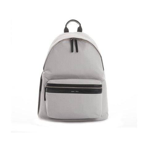JEM + BEA Jamie Python Nylon Backpack Changing Bag - Pale Grey