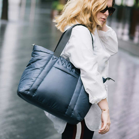 JEM + BEA Romy Tote Changing Bag - Navy-Changing Bags- Natural Baby Shower