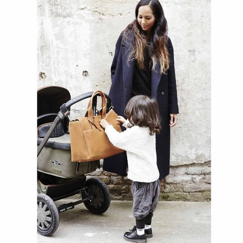 JEM + BEA Jemima Changing Bag - Tan - Changing Bags - Natural Baby Shower