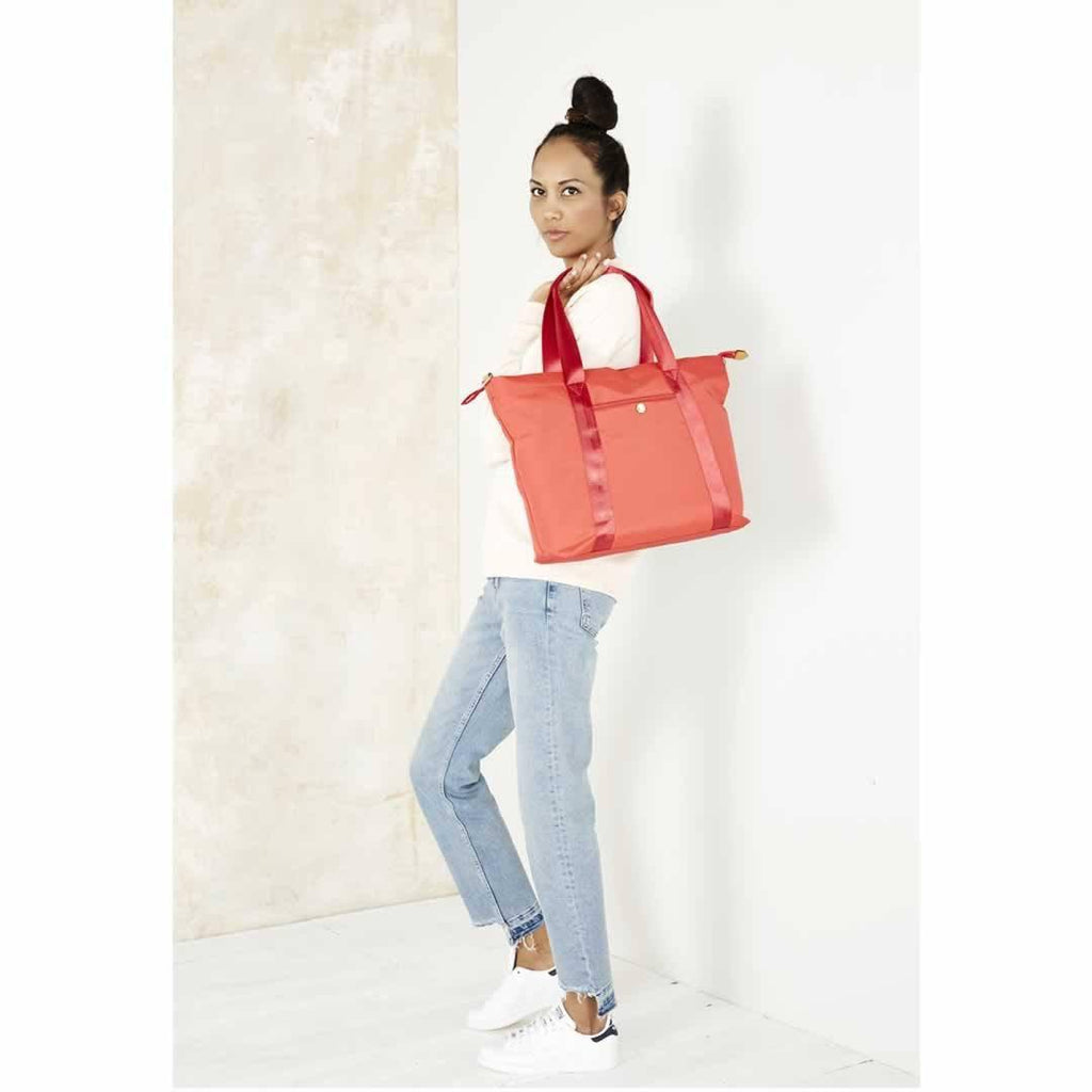 JEM + BEA Lola Changing Bag - Bright Red Lifestyle