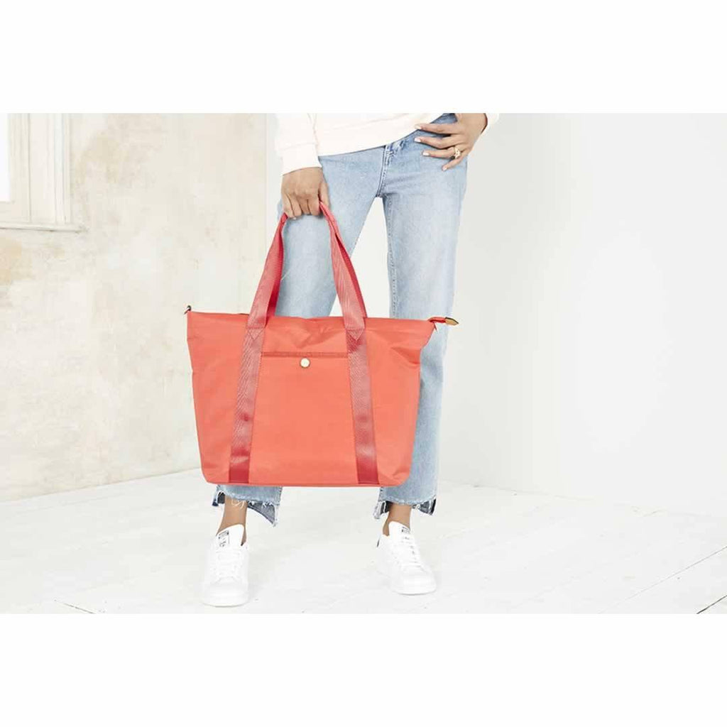 JEM + BEA Lola Changing Bag Bright Red Lifestyle