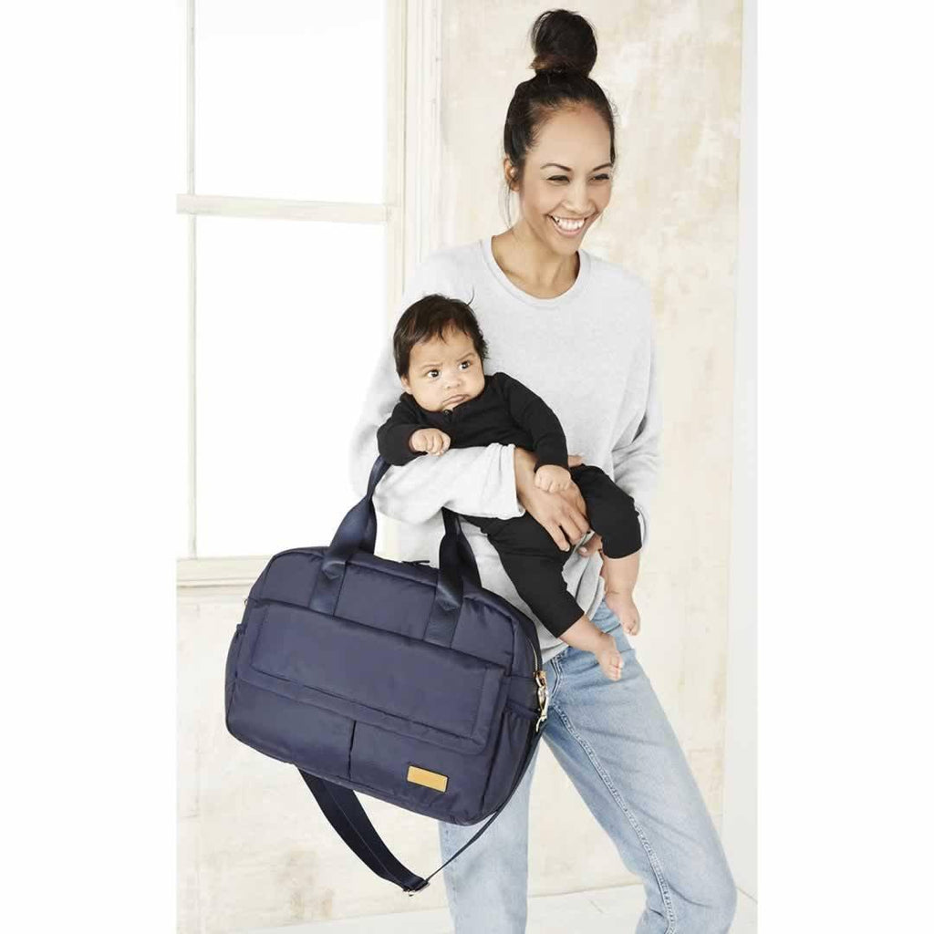 JEM + BEA Marlow Changing Bag - Navy-Changing Bags- Natural Baby Shower