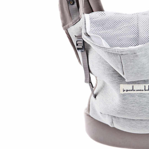 Je Porte Mon Bebe HoodieCarrier - Athletic Grey-Baby Carriers- Natural Baby Shower