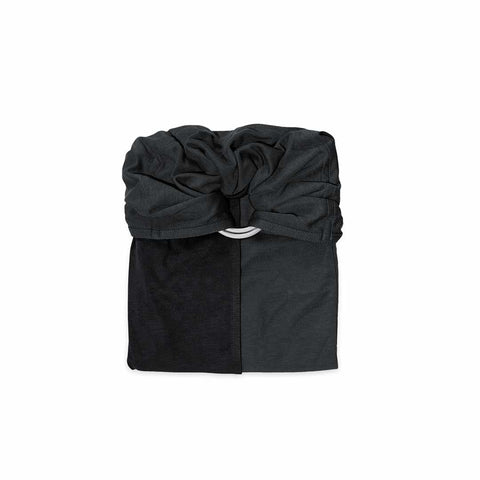 Je Porte Mon Bebe Knot Wrap Carrier - Charcoal Grey/Black-Baby Carriers- Natural Baby Shower