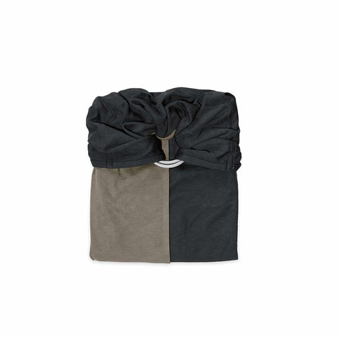 Je Porte Mon Bebe Knot Wrap Carrier - Charcoal Grey/Olive-Baby Carriers- Natural Baby Shower