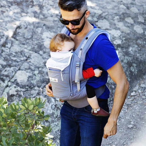 Je Porte Mon Bebe PhysioCarrier - All Grey-Baby Carriers- Natural Baby Shower