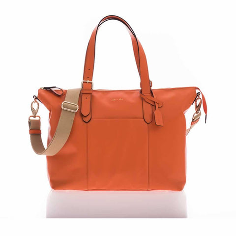 Jem + Bea Beatrice Changing Bag in Orange