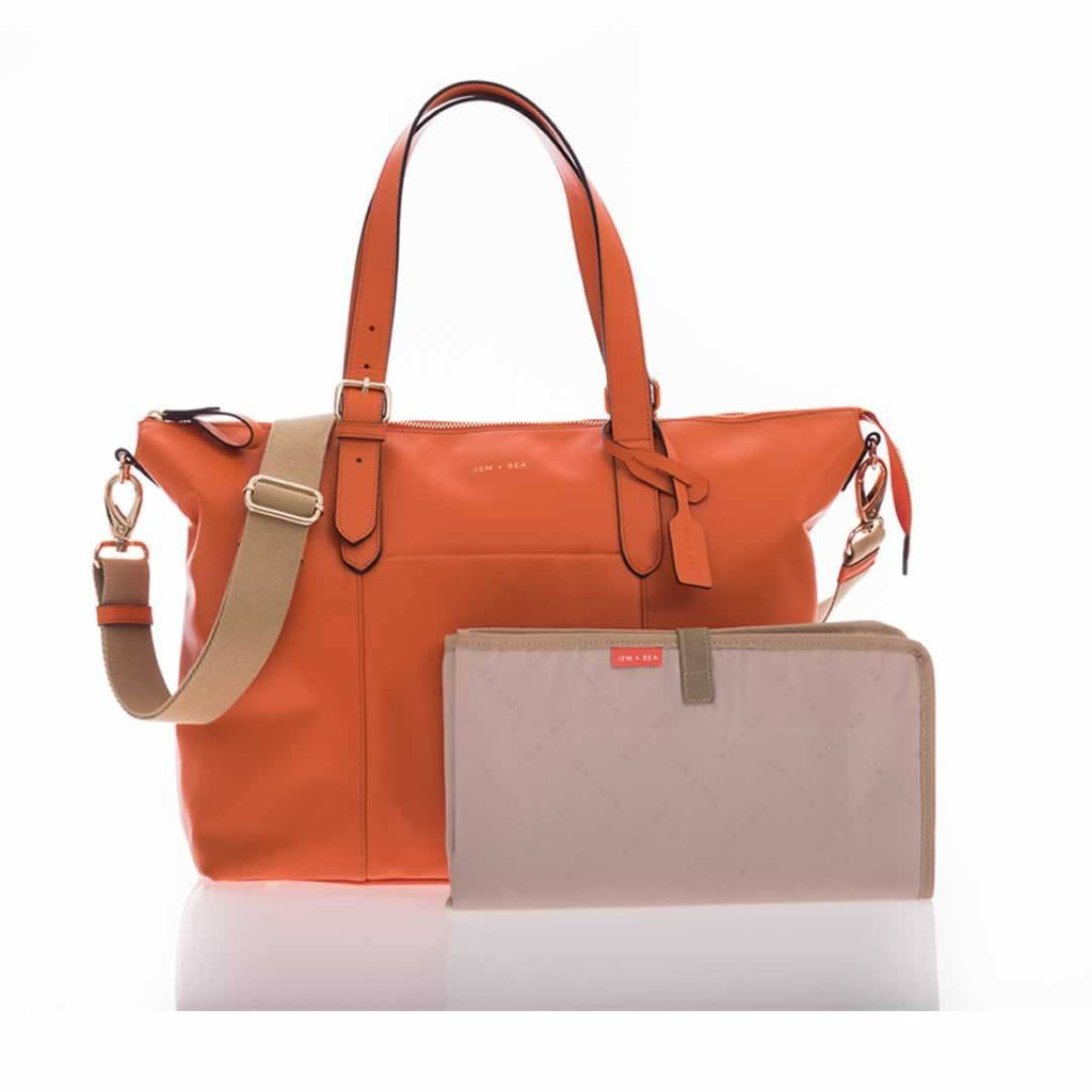 JEM + BEA Beatrice Changing Bag - Orange - Changing Bags - Natural Baby Shower