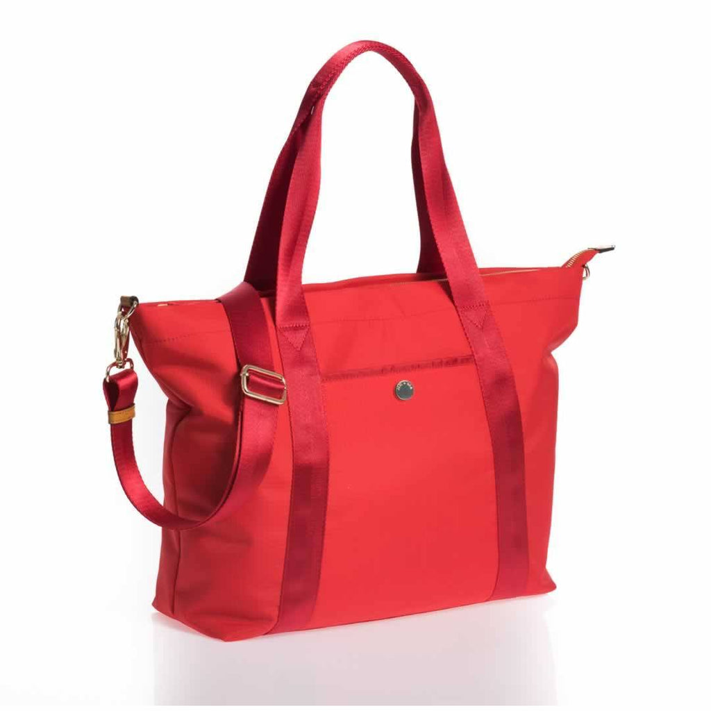 Jem + Bea Lola Changing Bag Bright Red Side