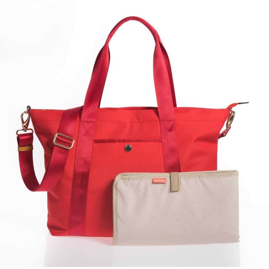 Jem + Bea Lola Changing Bag Bright Red