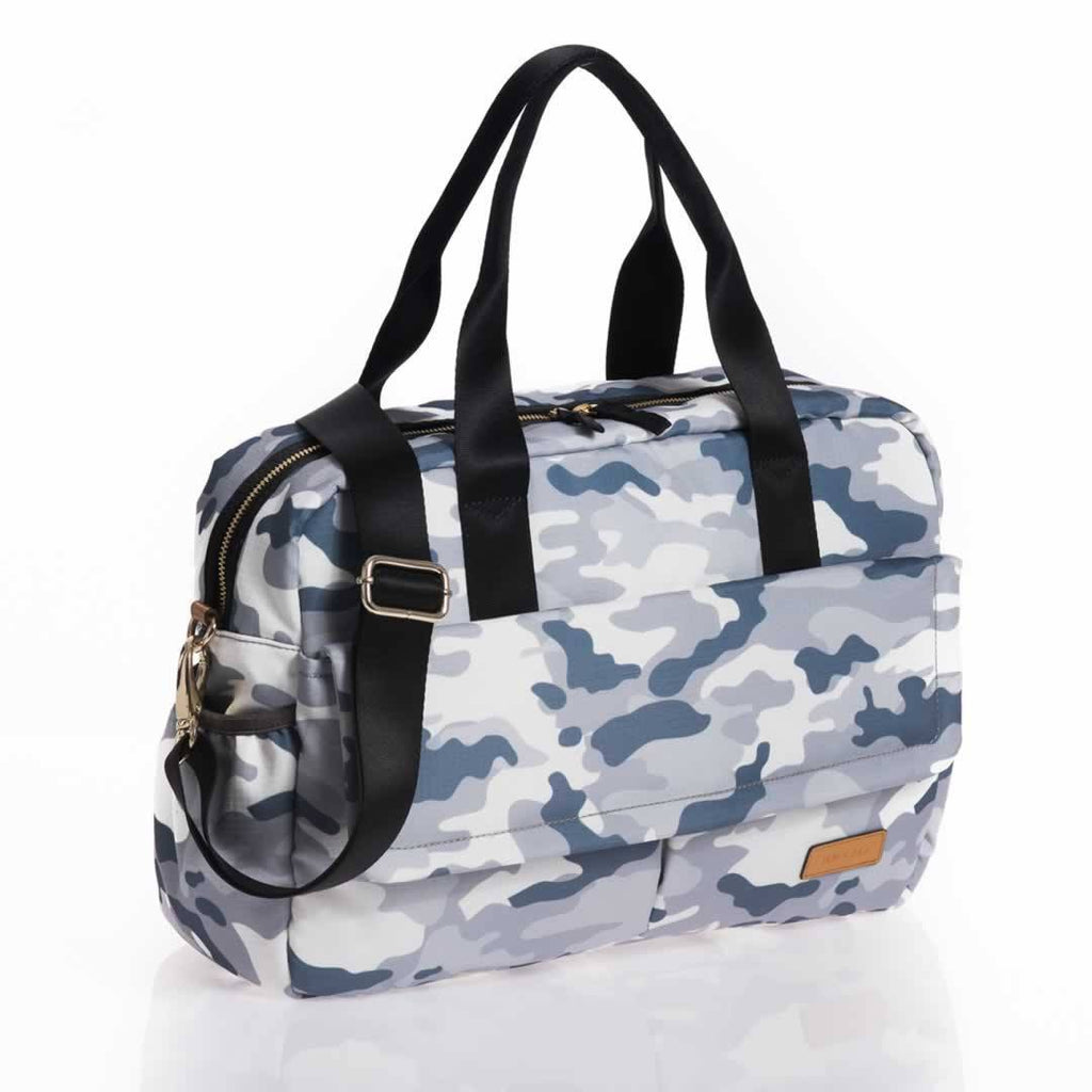 Jem + Bea Marlow Changing Bag Pale Grey Camo Side