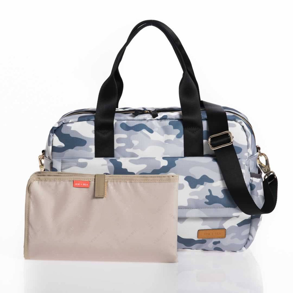 Jem + Bea Marlow Changing Bag Pale Grey Camo