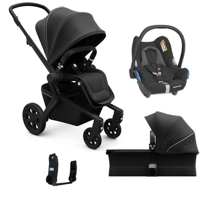 Joolz Hub CabrioFix Travel System - Brilliant Black-Travel Systems- Natural Baby Shower
