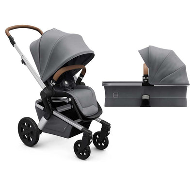 Joolz Hub Pushchair + Carrycot - Gorgeous Grey-Strollers- Natural Baby Shower