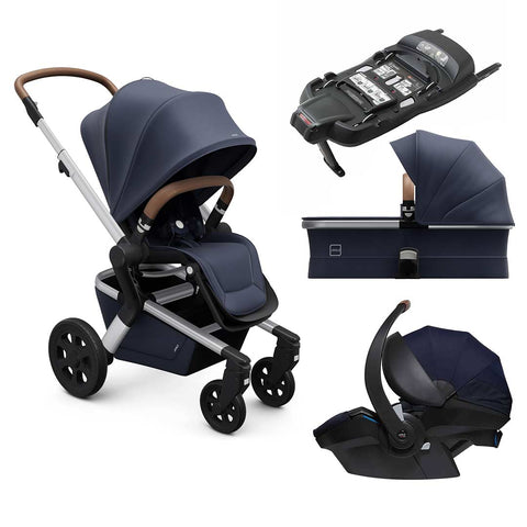 Joolz Hub Travel System - Classic Blue-Travel Systems-Cot-Joolz BeSafe + Base- Natural Baby Shower