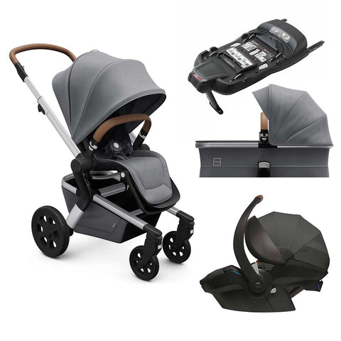 Joolz Hub Travel System - Gorgeous Grey-Travel Systems-Cot-Joolz BeSafe + Base- Natural Baby Shower