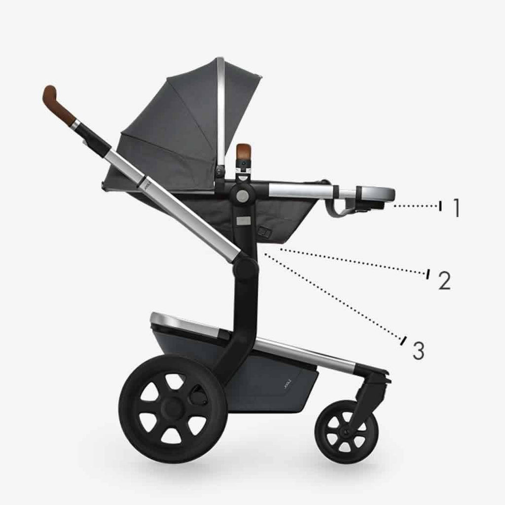 Joolz 2 Day Earth Stroller - Elephant Grey Recline